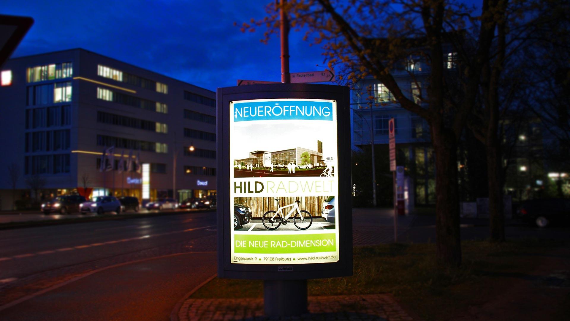 FOTOAUFNAHMEN UNSERER CITY-LIGHTS WERBEPOSTER FÜR HILD - FOTOAUFNAHMEN UNSERER CITY-LIGHTS WERBEPOSTER FÜR HILD - Fotoschau DeWo Werbeagentur Gitti Scharfenberg #1