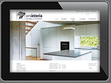 Ansicht Webseite Arsinteria Inneneinrichtung + Möbelbau