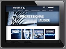Ansicht Webseite www.beyma.de