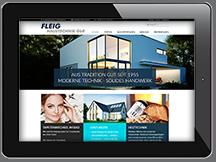 Ansicht Webseite Fleig Haustechnik