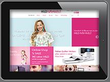 Ansicht Webseite HILD Nähwelt