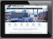 Ansicht Webseite KRIKO Engineering