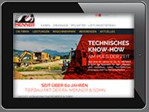 Ansicht Webseite https://menner-tiefbau.de/