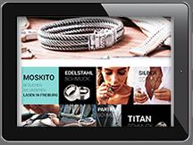 Ansicht Webseite Moskito Silber- und Edelstahlschmuck