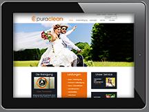 Ansicht Webseite Puraclean Wäscherei + Textilreinigung