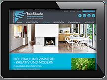 Ansicht Webseite Schaufler Kreativer Holzbau
