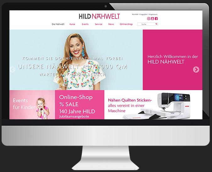 Ansicht Webseite www.hild-naehwelt.de