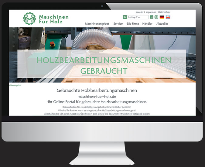 Ansicht Webseite maschinen-fuer-holz.de