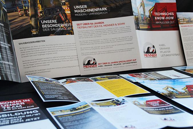 Menner & Sohn Tiefbau Printprodukte by DEWO WERBEAGENTUR