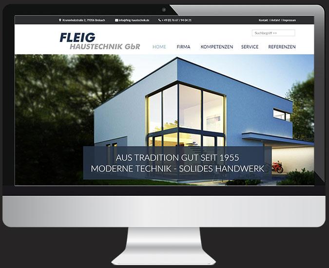 Ansicht Webseite www.fleig-haustechnik.de/