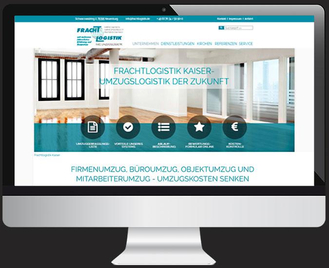 Ansicht Webseite www.frachtlogistik.de/