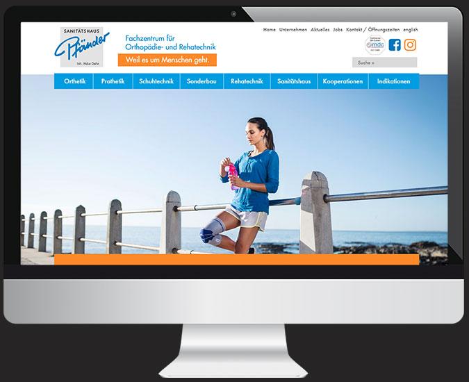 Ansicht Webseite www.pfaender-freiburg.de