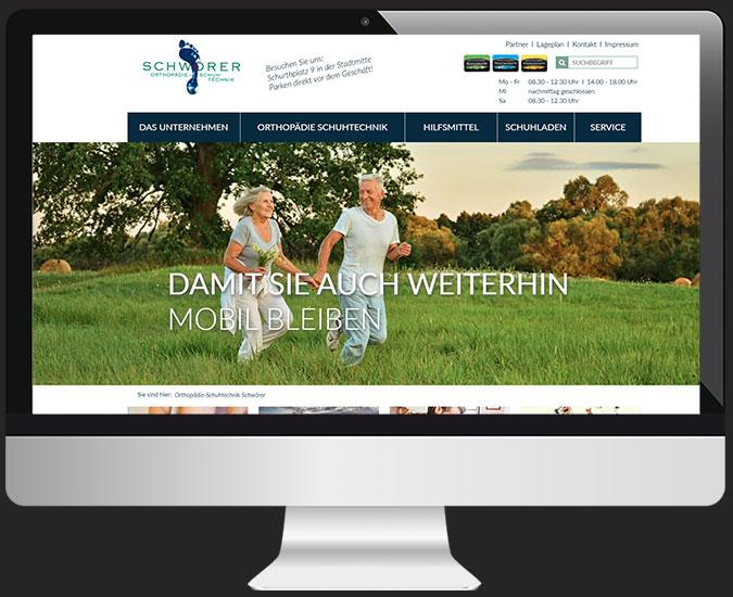 Ansicht Webseite www.schuhtechnik-schwoerer.de