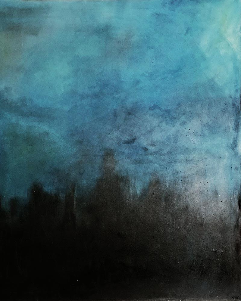 BLAU II - Werkschau Malerei Gitti Scharfenberg - DeWo Werbeagentur #4